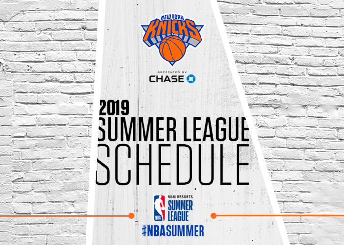 photo regarding Knicks Printable Schedule identified as Contemporary York Knicks Announce 2019 Summer time League Roster Clean