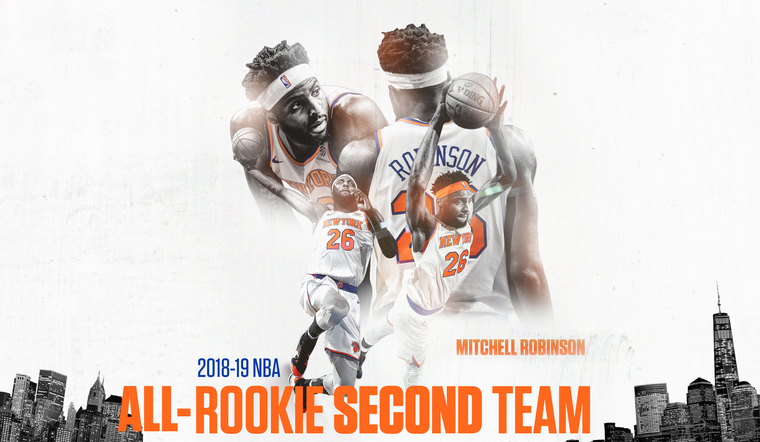 2018-19 All-Rookie Second Team | Congratulations Mitchell Robinson