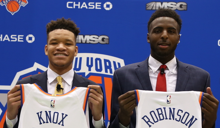 KNICKS DRAFT KEVIN KNOX AND MITCHELL ROBINSON IN THE 2018 NBA DRAFT