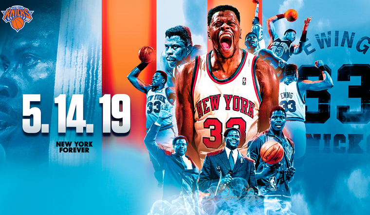 Patrick Ewing to Represent Knicks at 2019 NBA Draft Lottery