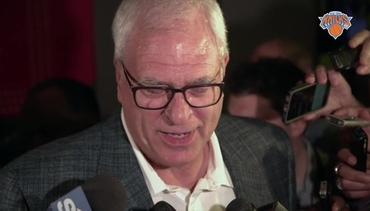 Phil Jackson Reacts to Knicks Receiving the 8th Pick at the NBA Draft Lottery
