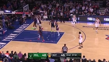Knicks Highlights: Vonleh denies Antetokounmpo at the rim