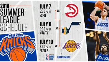 2018 SUMMER LEAGUE SCHEDULE