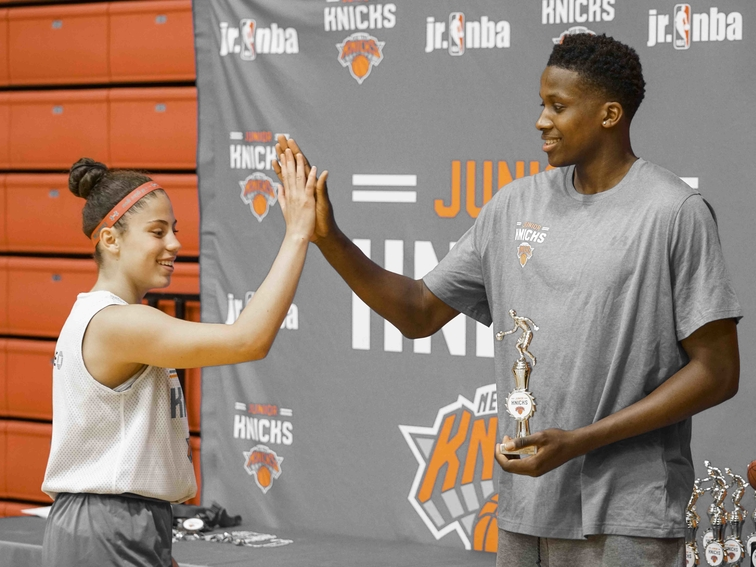 Gallery: Frank Ntilikina Dishes Out Awards at First Knicks Camp