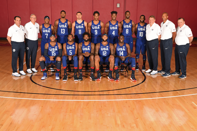 USA Basketball Men's National Team Photo