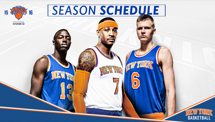 2015-16 New York Knicks Schedule Announced