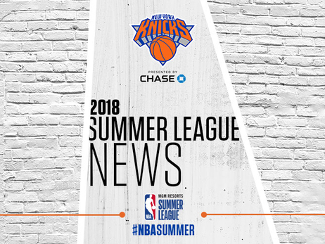 KEVIN KNOX NAMED TO ALL-NBA SUMMER LEAGUE FIRST TEAM, 2018