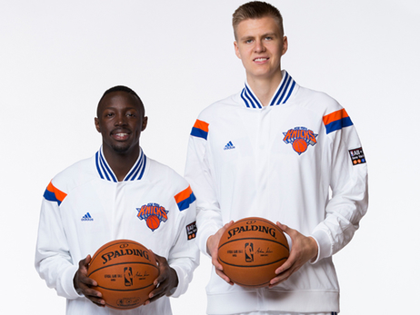 Gallery: Kristaps Porzingis and Jerian Grant Pose In Knicks Uniforms