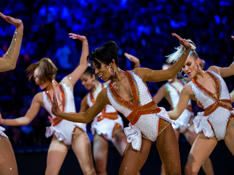 Knicks City Dancers rock their last performances of the season, April 9 vs Cavaliers