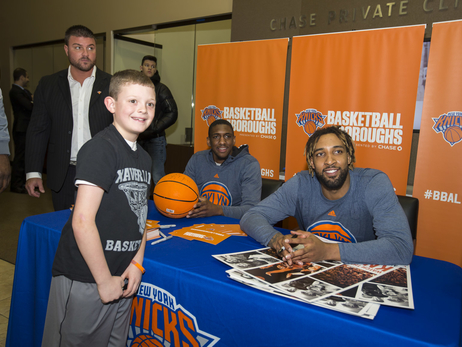 Gallery: LJ, Langston Galloway, and Derrick Williams Visit Brooklyn Chase Branch