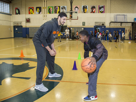 Junior Knicks Clinic with Enes Kanter