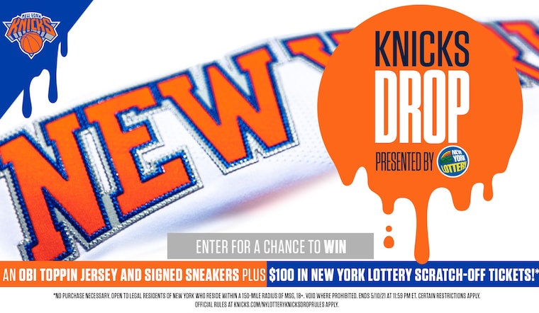 Enter for a Chance to Win an Obi Toppin Jersey and Signed Sneakers Plus $100 in New York Lottery Scratch-Off Tickets