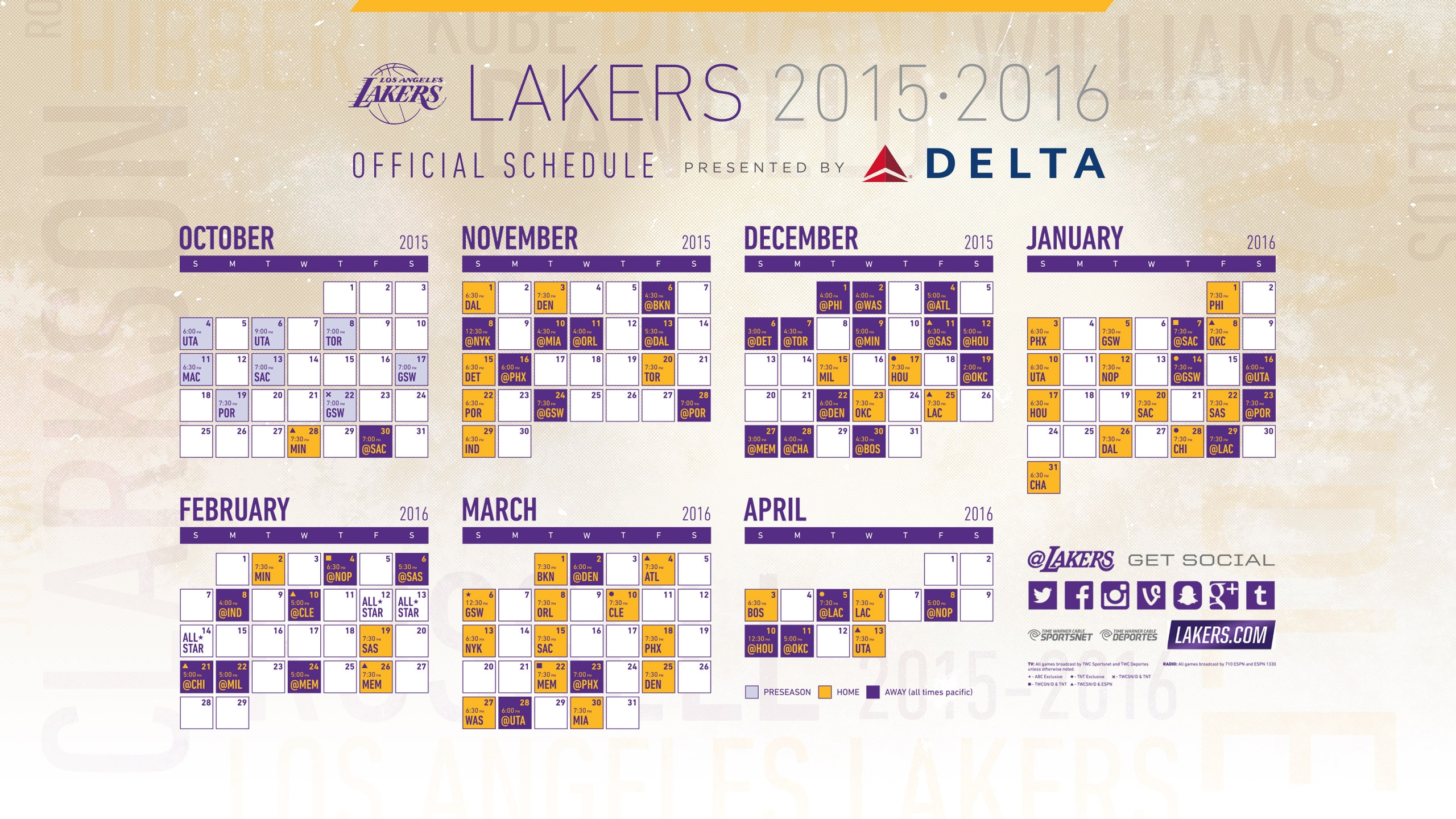 This is a graphic of Intrepid Lakers Schedule 2020-18 Printable