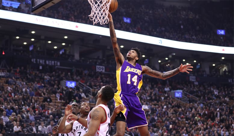 Lakers Can't Keep Toronto From Wire-to-Wire Win