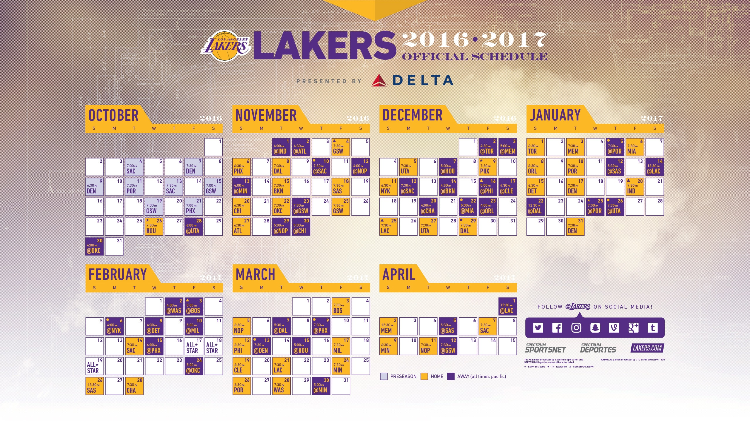 This is a picture of Modest Lakers Schedule 2020-18 Printable