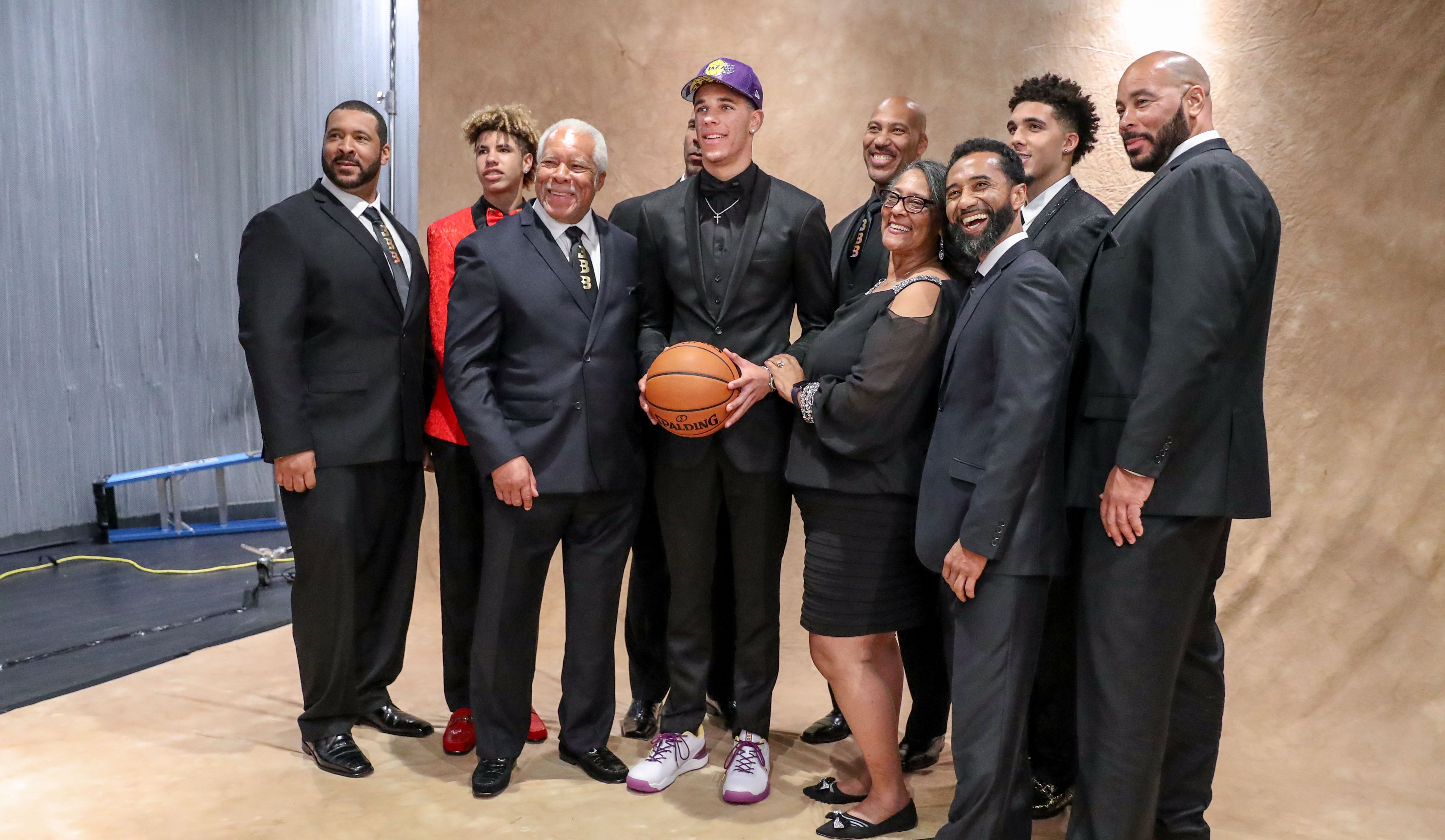 Lonzo and his family at the 2018 NBA Draft
