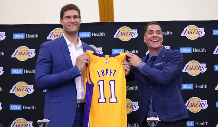 reputable site f0ffc f5d6d Lopez Excited to Play for Hometown Lakers | Los Angeles Lakers