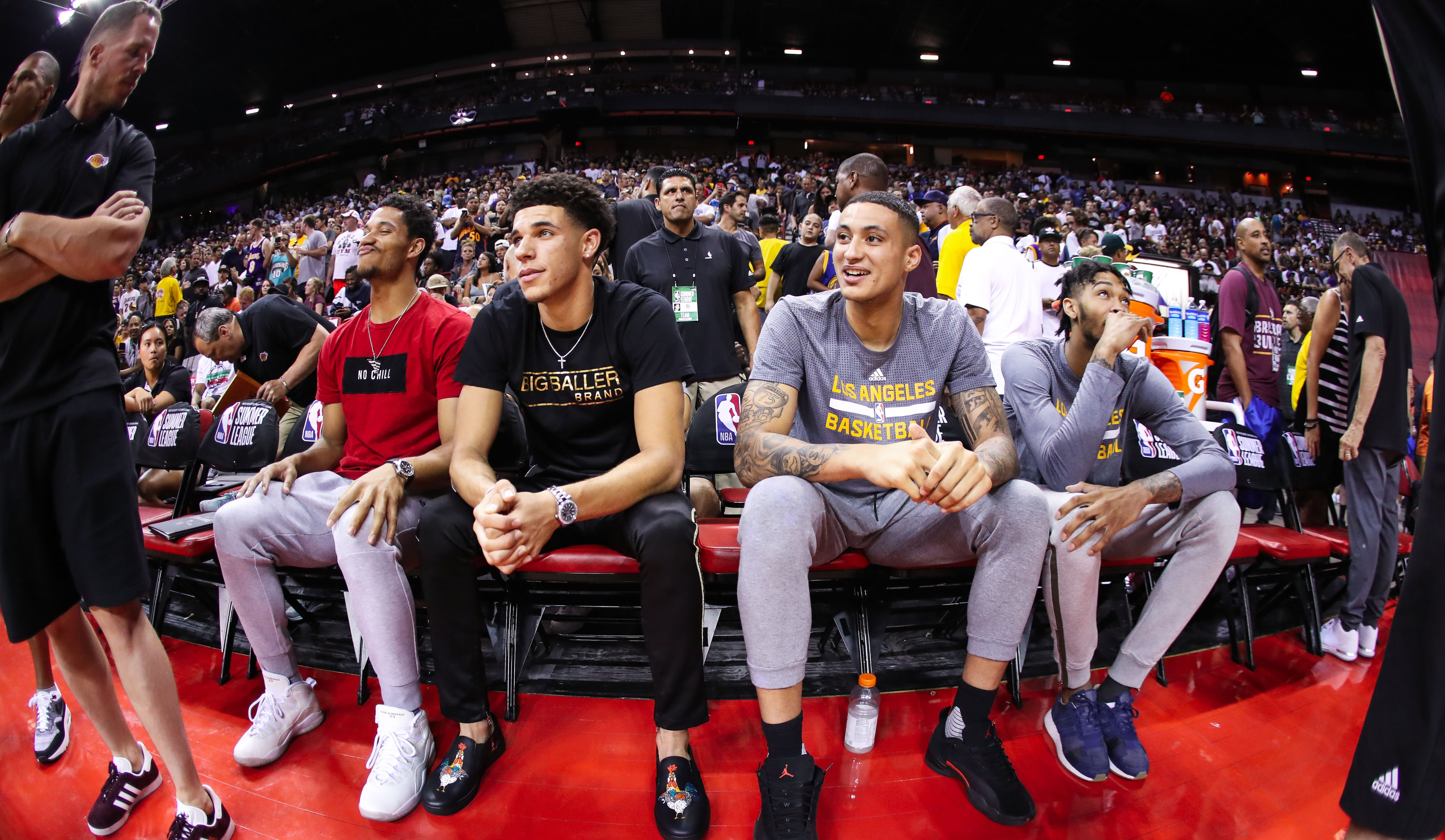 Laker rookies and Brandon Ingram at Summer League