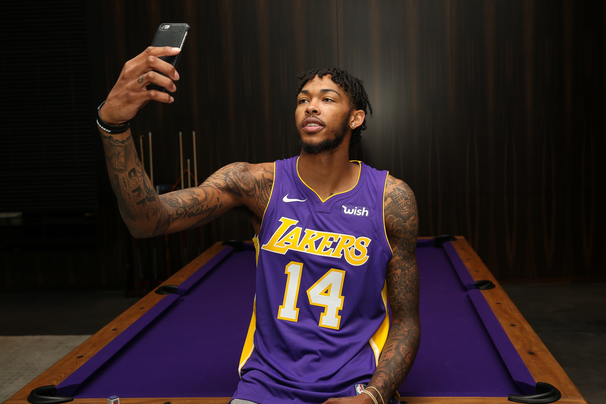 watch 33e73 203dc Photos: Lakers Partner with Wish   Los Angeles Lakers