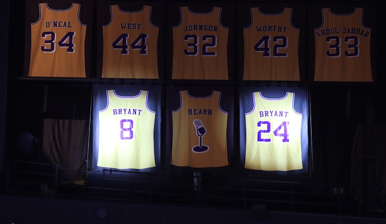 Lakers Retire Kobe Bryant's Jersey Numbers | Los Angeles Lakers