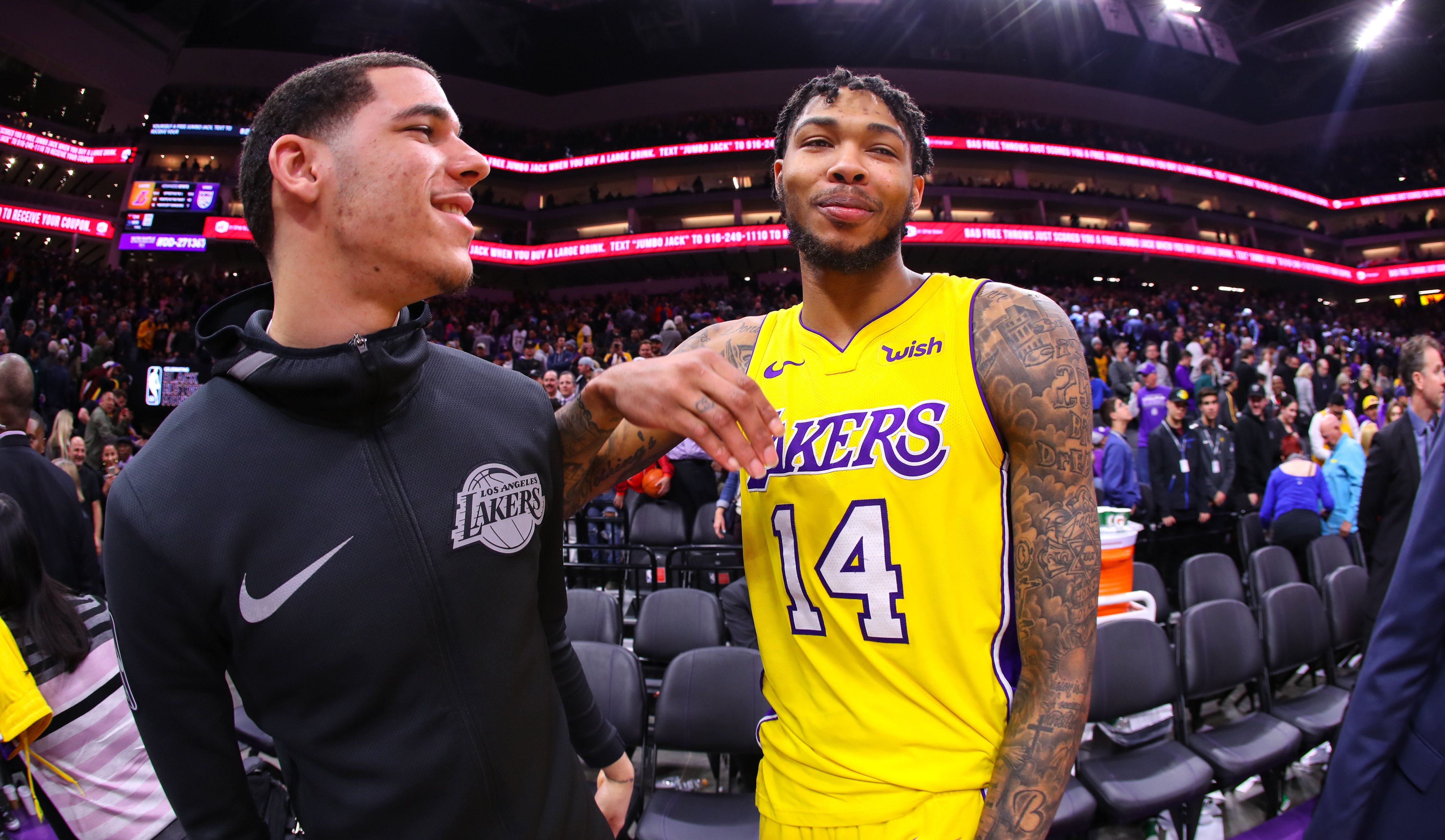 Lonzo Ball and Brandon Ingram