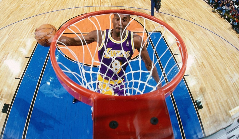 Lakers History Rookie Kobe Soars To Dunk Contest Title Los Angeles Lakers