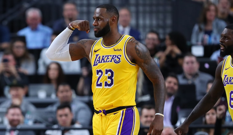finest selection fd2d1 df9b3 LeBron, Ingram Lead Lakers' Vegas Win Over Warriors | Los ...