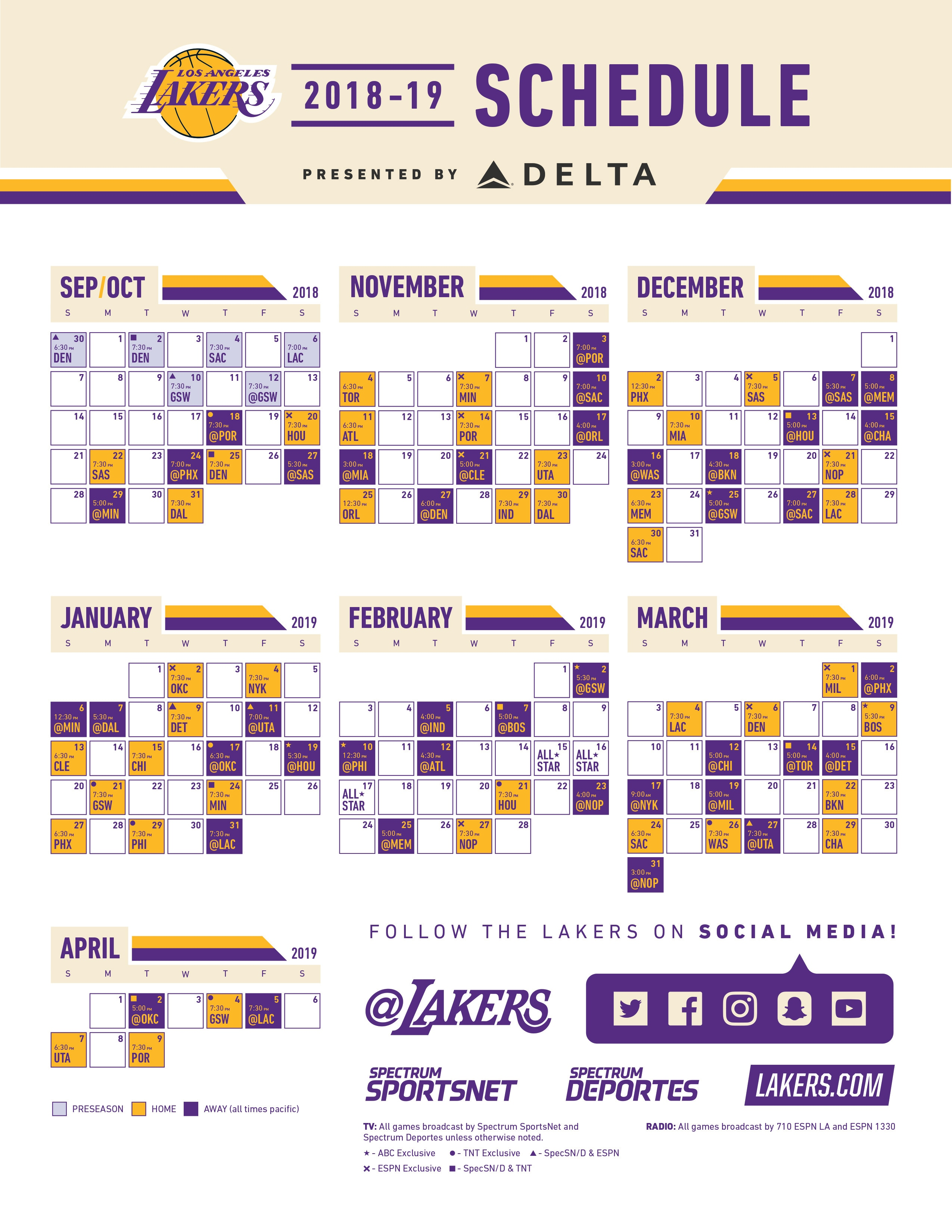 Tactueux image for lakers printable schedule