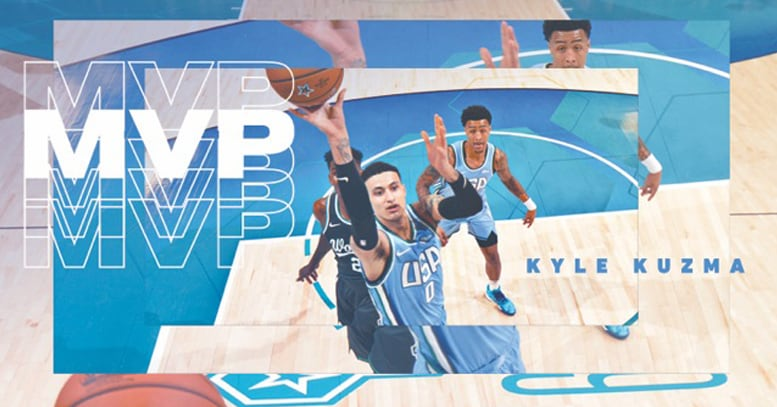 Kyle Kuzma Pours in 35 Points, Wins Rising Stars MVP | Los Angeles Lakers