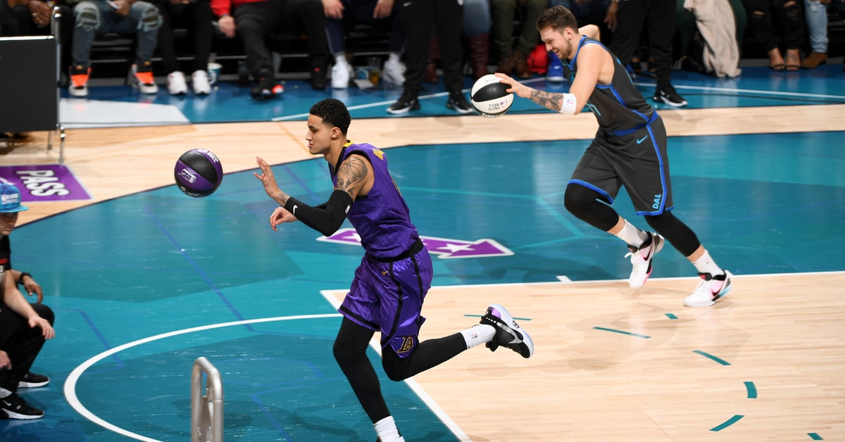 Quick Exit for Kuzma in Skills Challenge Matchup with Doncic