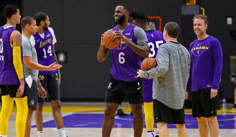 LeBron James practice