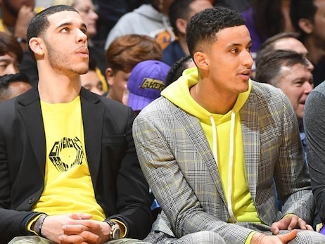 Lonzo Ball and Kyle Kuzma