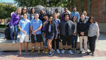 'Adopt a Laker' Program Concludes with UCLA Visit for Crenshaw High Students