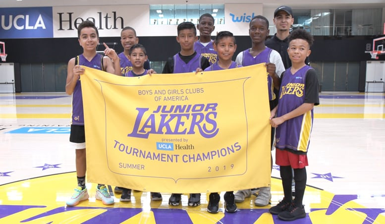 Kids from Across L A  Compete at Junior Lakers Tournament Presented