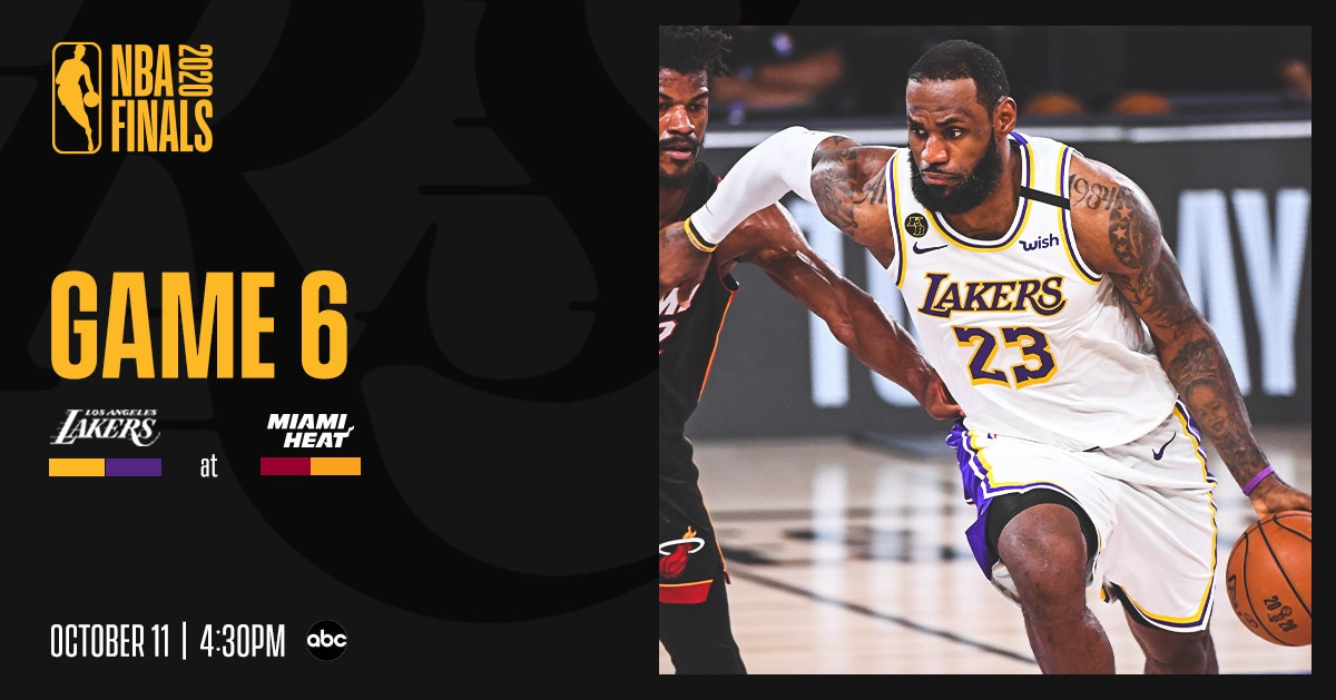 Lakers vs. Heat, Finals Game 6: Three Things to Know (10 ...