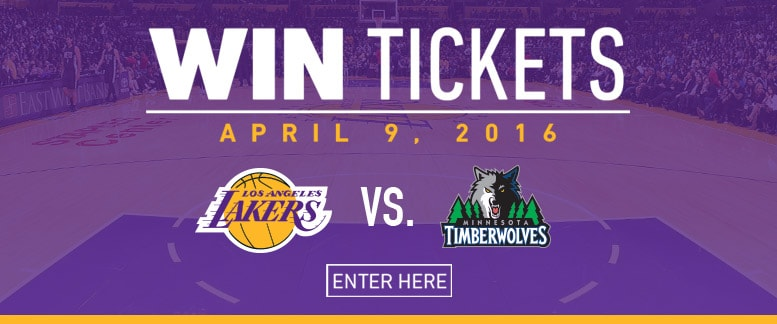 Win Lakers Tickets for 4/9 vs. Timberwolves