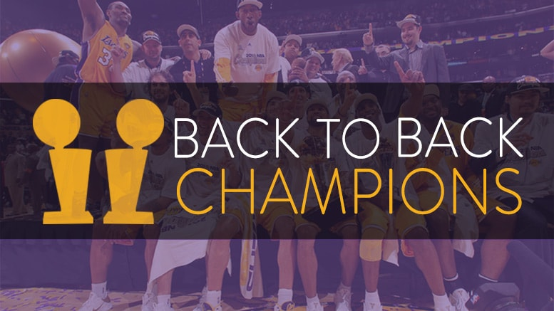 Back to Back Champions