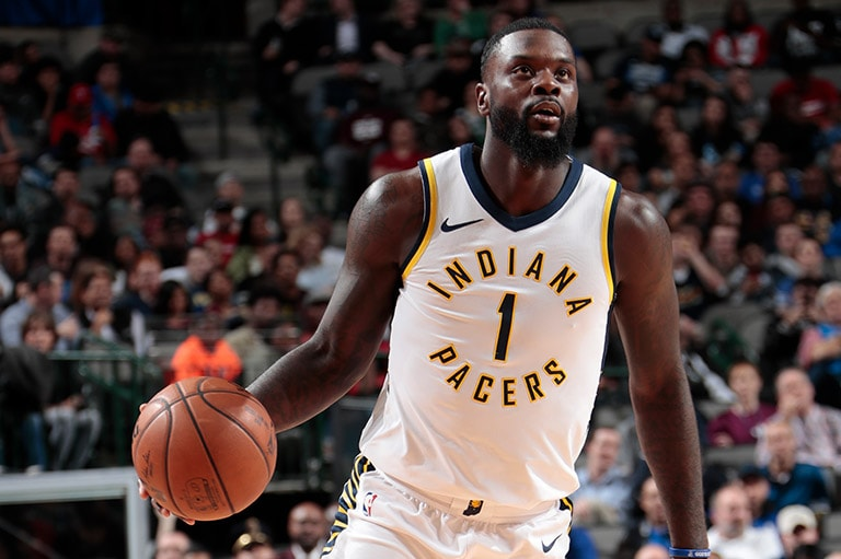 Lance Stephenson with the Indiana Pacers