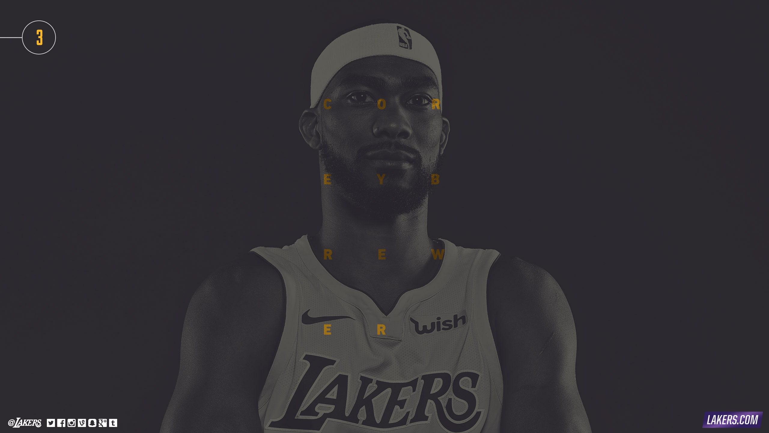 2017 Player Pages Corey Brewer Los Angeles Lakers