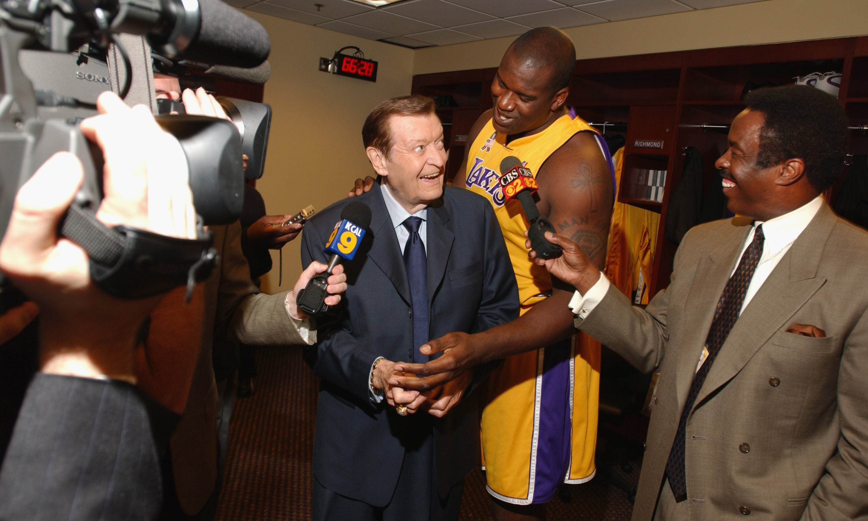 Chick Hearn and Shaq