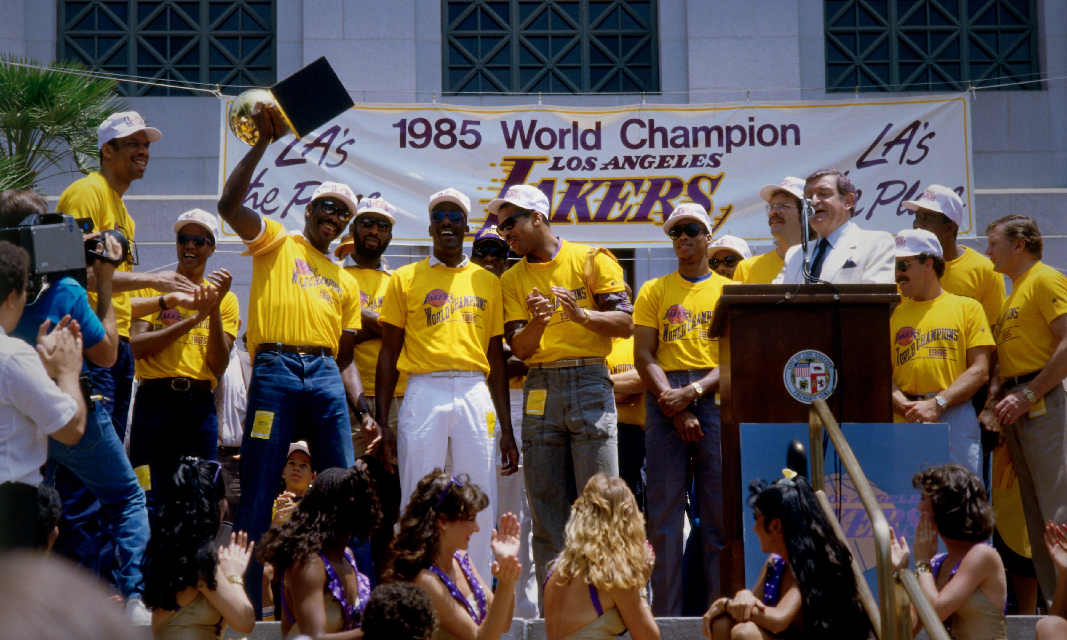 1998 NBA Champs and Chick Hearn