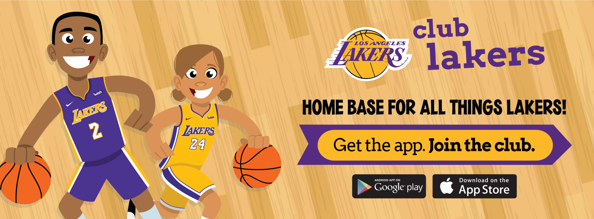 Download the Club Lakers App