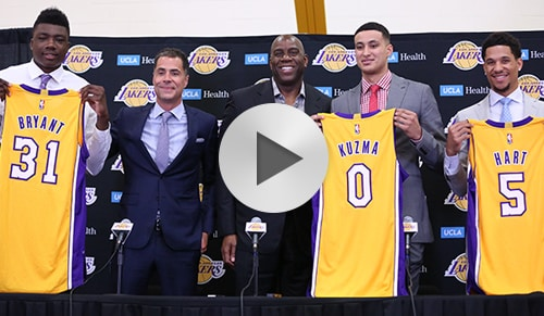 Lakers 2017 Draft Class Press Conference