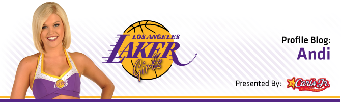 Laker Girls / Carl Jr.'s Blog - Andi