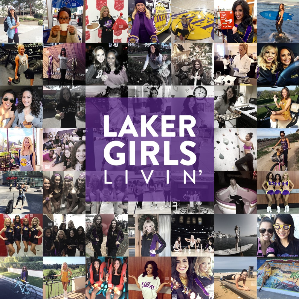 Laker Girls Livin' Season Collage