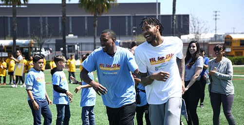 Lakers Team Up For Fit For Life