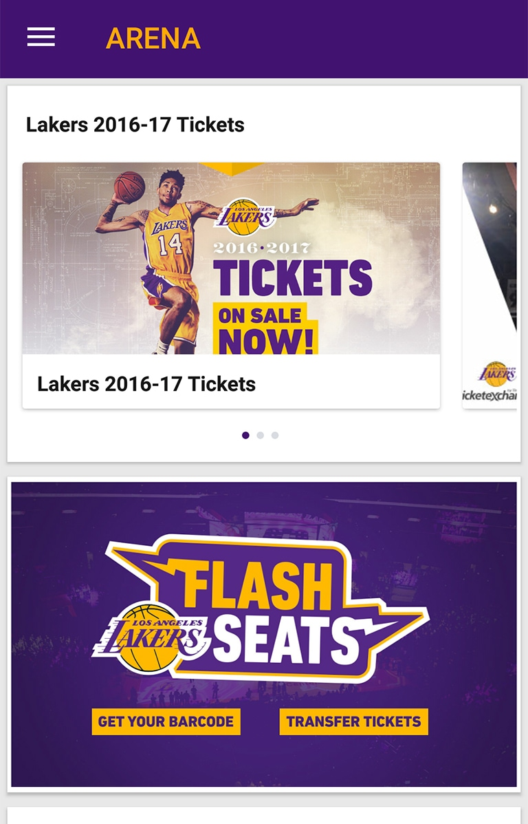 lakers flash seats