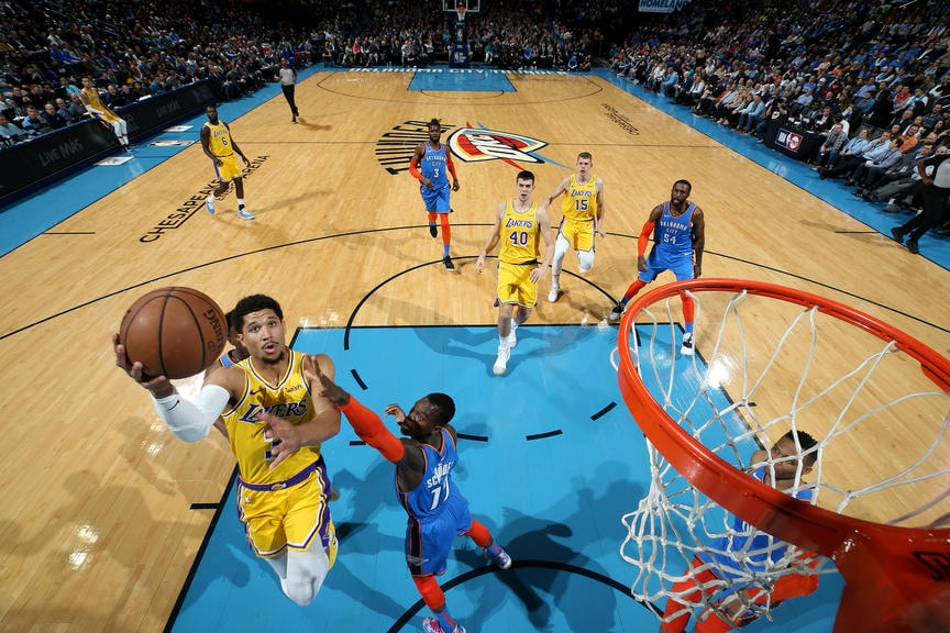 check out d0fe5 c47f1 Photos: Lakers at Thunder (01/17/19) | Los Angeles Lakers