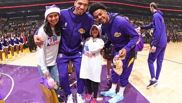 2019's Lakers On-Court Gift Exchange for NBA Cares Season of Giving