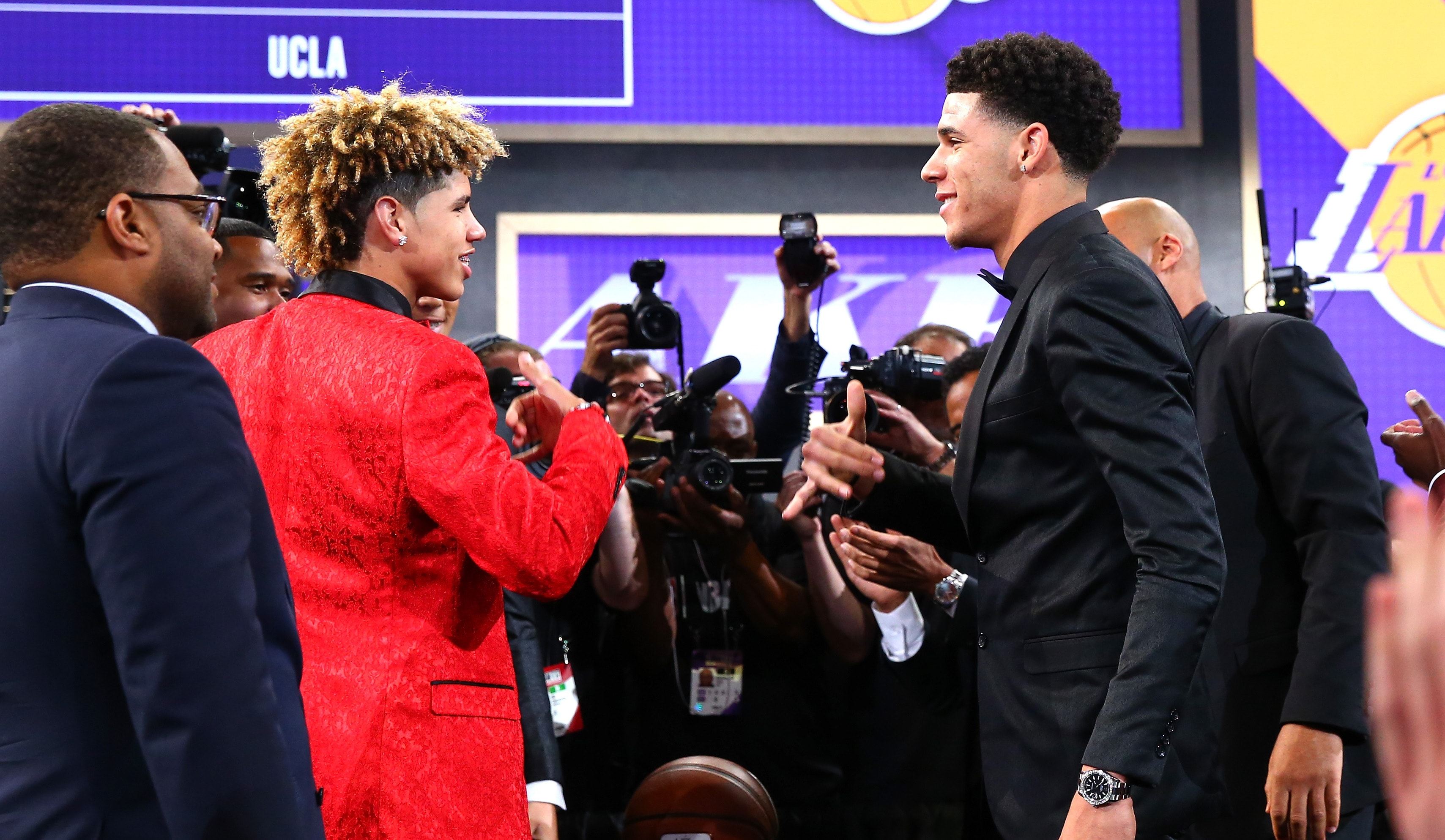 Lonzo and his brother LaMelo